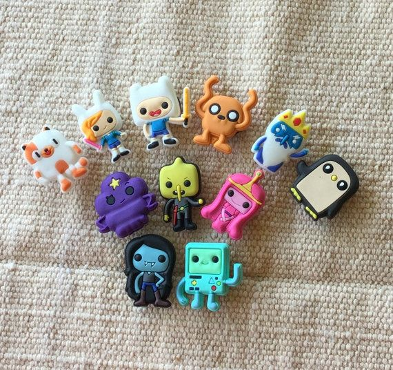 shoe charms for crocs   adventure time