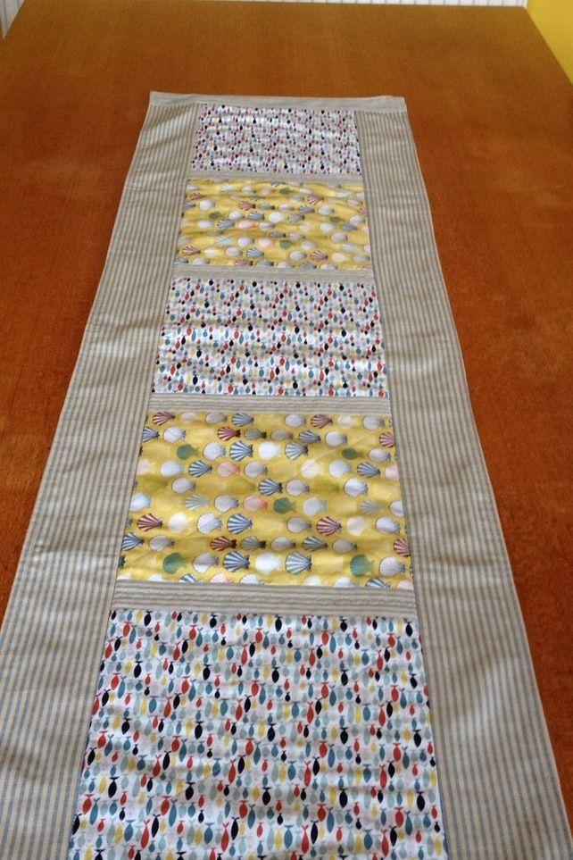 Seaside Themed Cotton Table Mat or Runner  £22.00