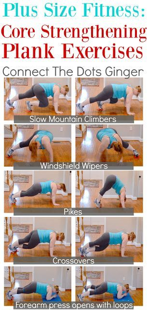 Plus Size Fitness: Core Strengthening Plank Exercises - Fitness Plans - Ideas of Fitness Plans #fitn...