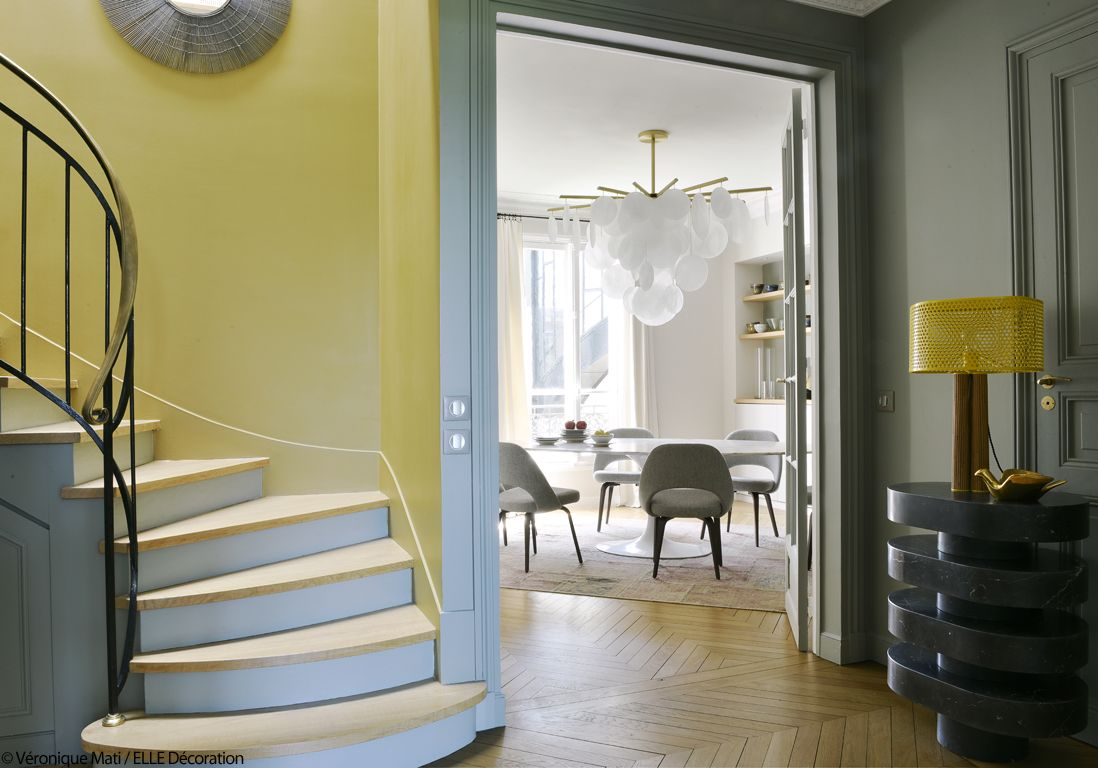 Un Duplex Design Et Chaleureux Face A La Tour Eiffel Deco Maison Interieur Decoration Maison