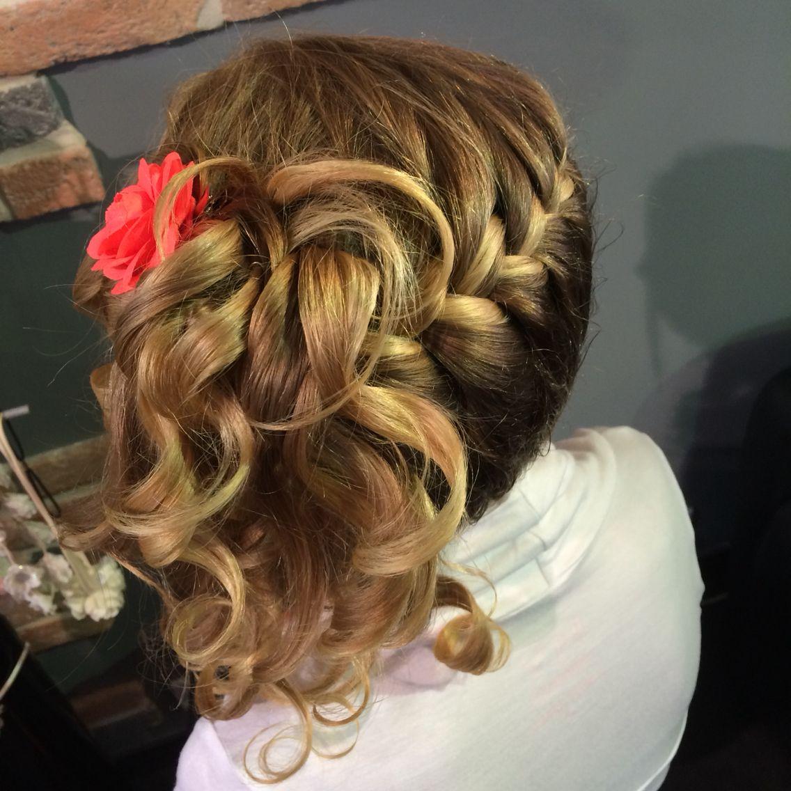 Coiffure enfant tresse et boucle coiffure chignon pinterest coiffure enfant tresser et - Coiffure enfant tresse ...