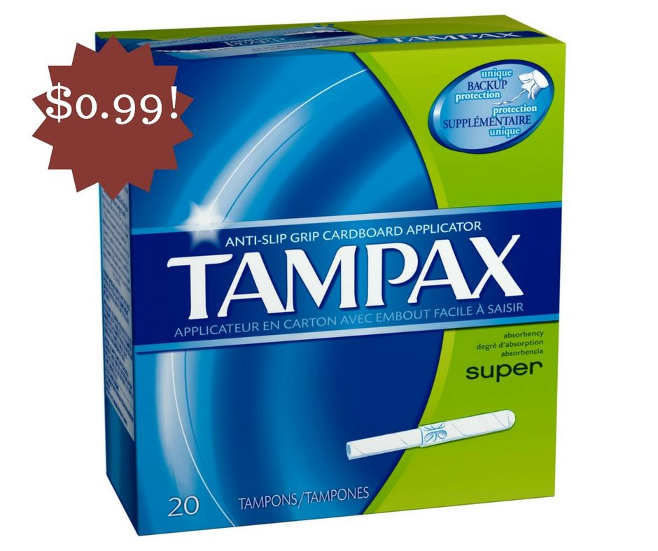Wegmans Tampax Tampons Only 0 99 Super Tampons Tampax Tampons