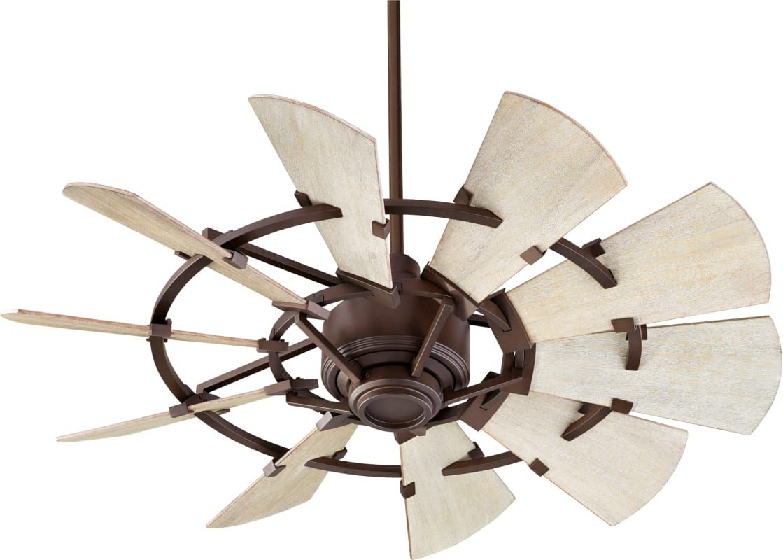 Quorum International 94410 86 Oiled Bronze Windmill 44 10 Blade Indoor Dc Ceiling Fan With Wall Control Windmill Ceiling Fan Ceiling Fan Outdoor Ceiling Fans
