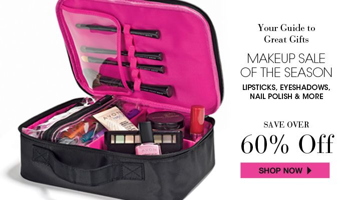 AVON - makeup - makeup sale of the season - lipsticks, eyeshadows, nail polish & more! Save over 60% on your favorite Avon makeup products at http://eseagren.avonrepresentative.com