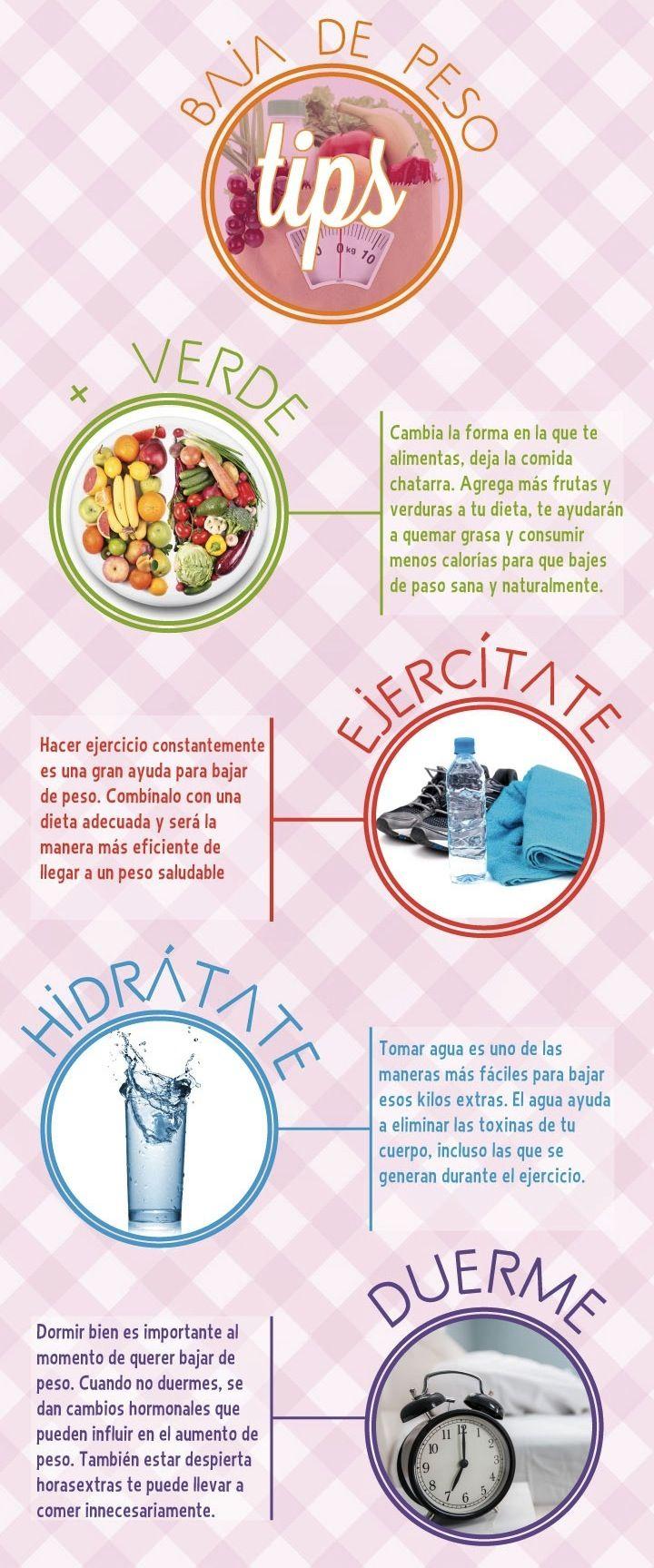 Tips para bajar de peso y mejorar la salud