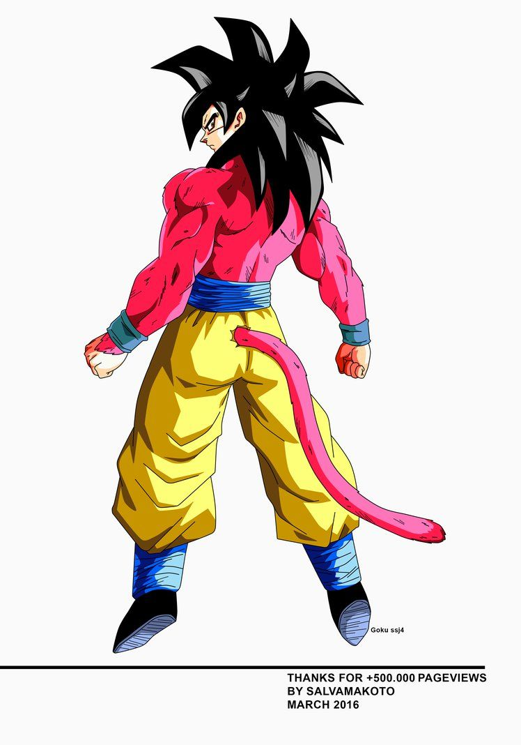 Goku Ssj4 By Salvamakoto Super Sayajin Desenho Desenhos