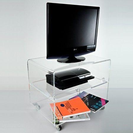 Plexiglass & Lavorazioni: carrello porta Tv su misura in plexiglass ...