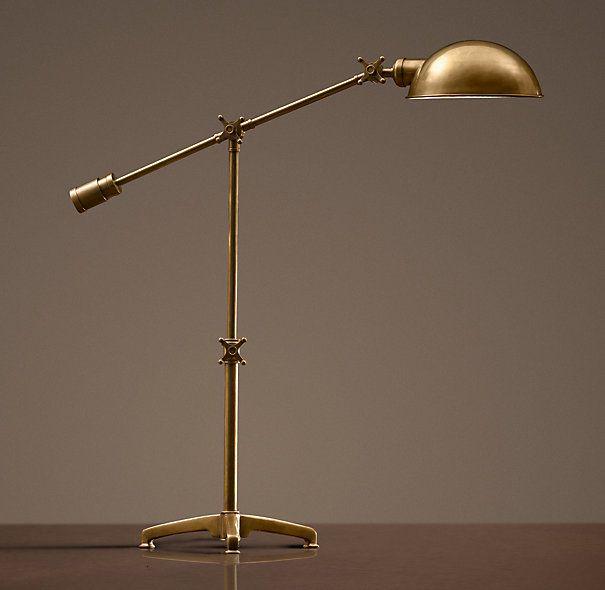 Task Table Lamp Antique Brass, Antique Brass Pharmacy Desk Lamp