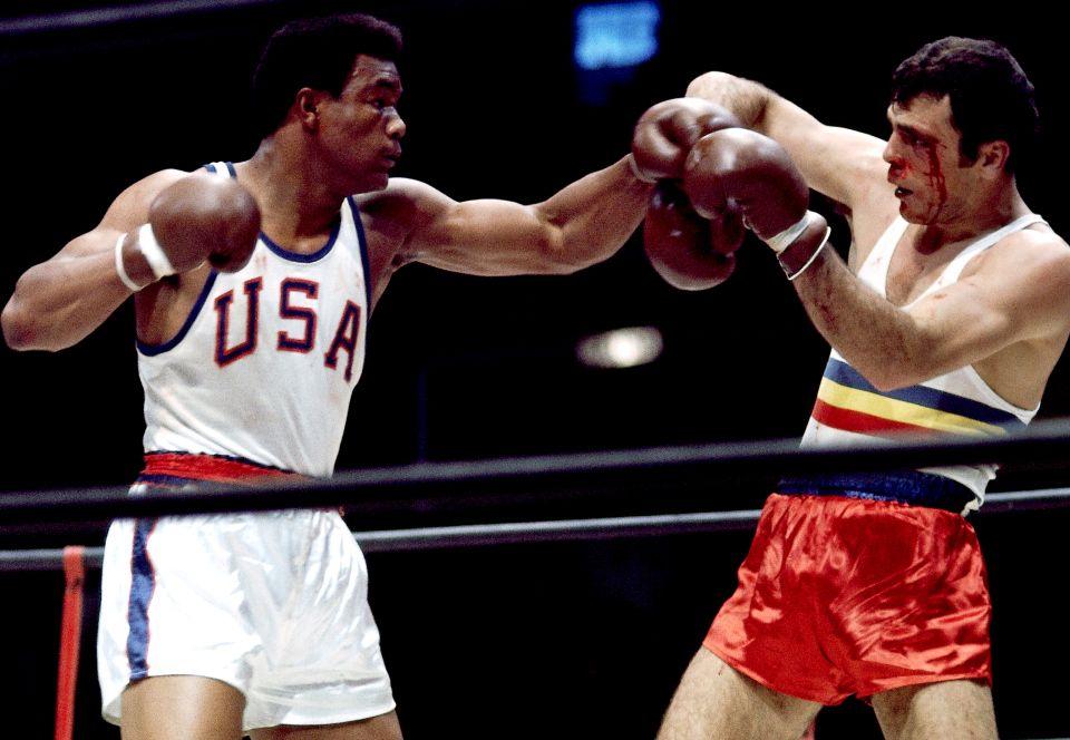 Foreman Fighting in Olympics Neil Leifer