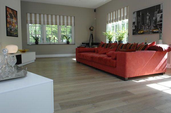 Kleurolie Houten Vloer : Eiken houten lamel parket vloer in de natural oak kleur olie