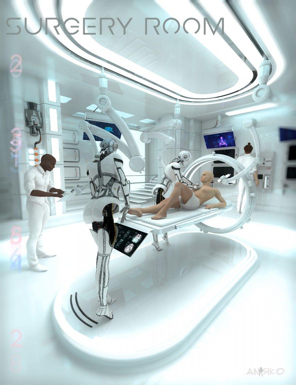 Hospital Procedure Room: Sci-fi Surgery Room