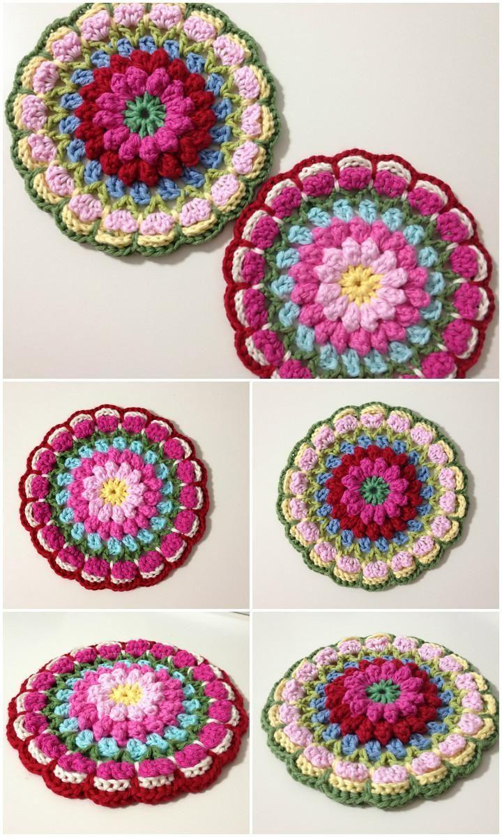 60+ Free Crochet Mandala Patterns | Pinterest | Mandalas, Ganchillo ...