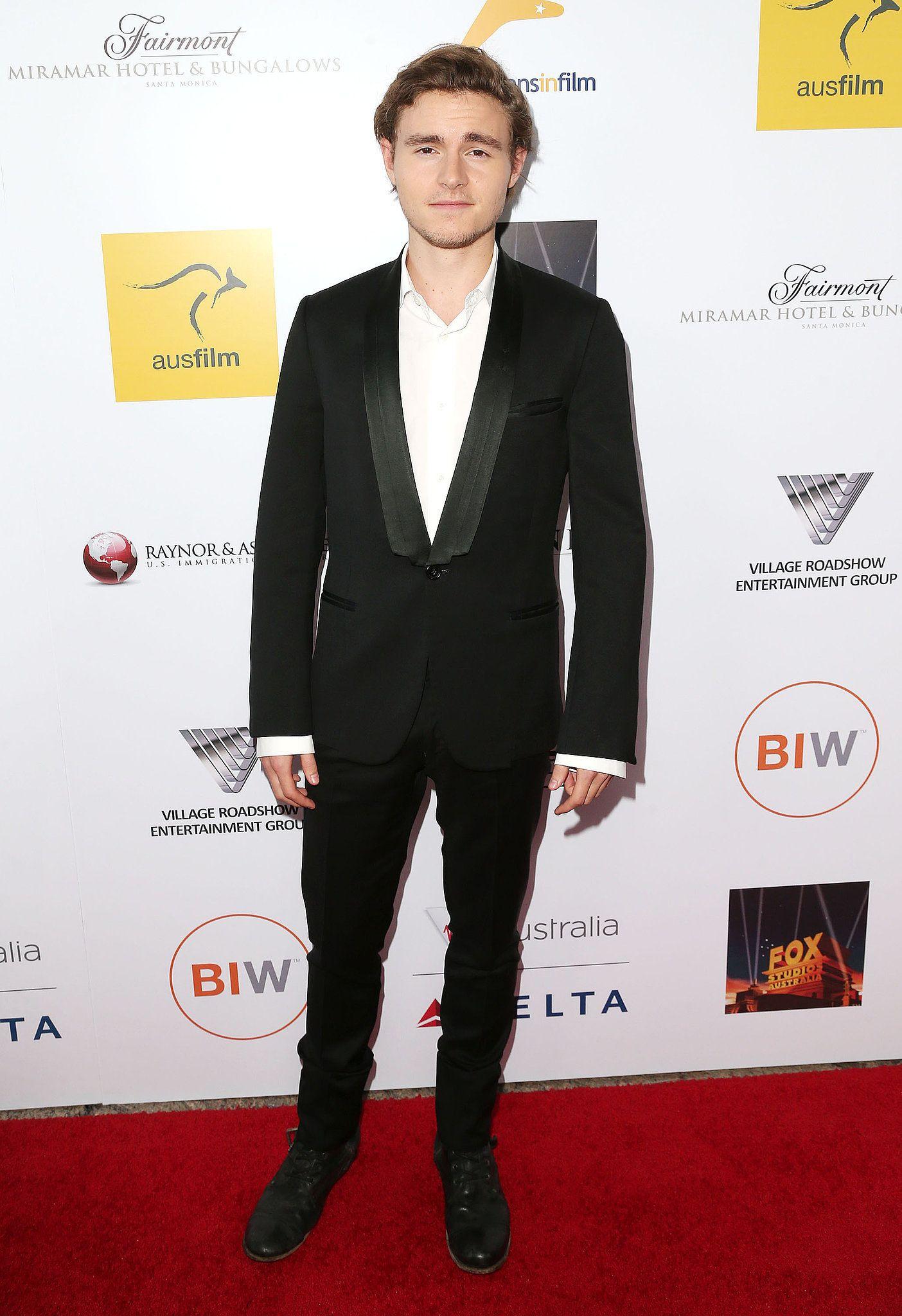Callan McAuliffe at the 2014 Australians in Film gala dinner in LA.