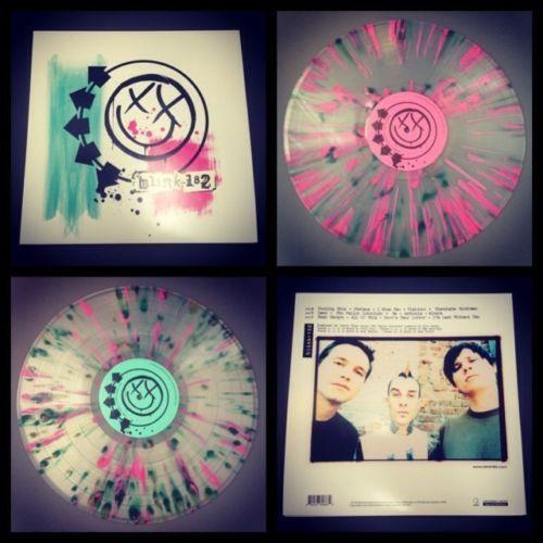 New Blink 182 Self Titled 2xlp Sealed Clear Splatter Vinyl Fall Out Boy Nofx S T Blink 182 Vinyl Fall Out Boy