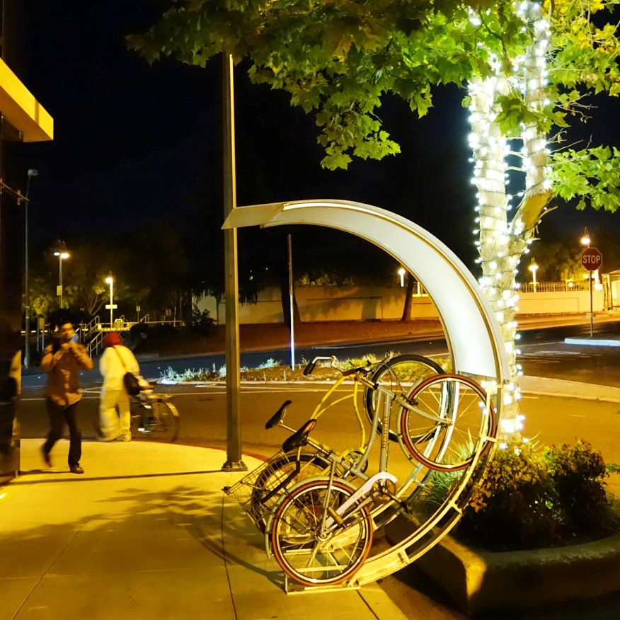 Awesome Vertical Bicycle Rack In California.