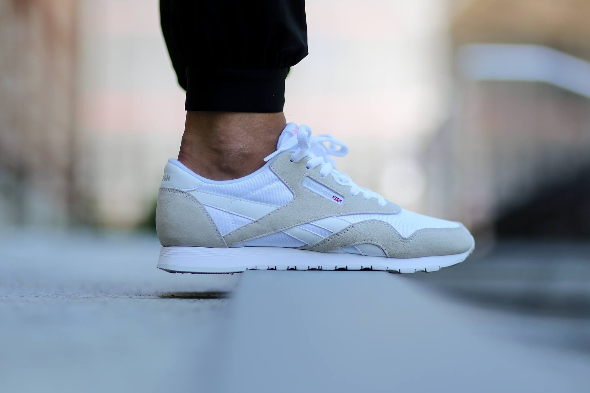 9b7b12589f4177 The Reebok Classic Nylon edition is offered in a new colorway of White with Light  Grey for its latest iteration.