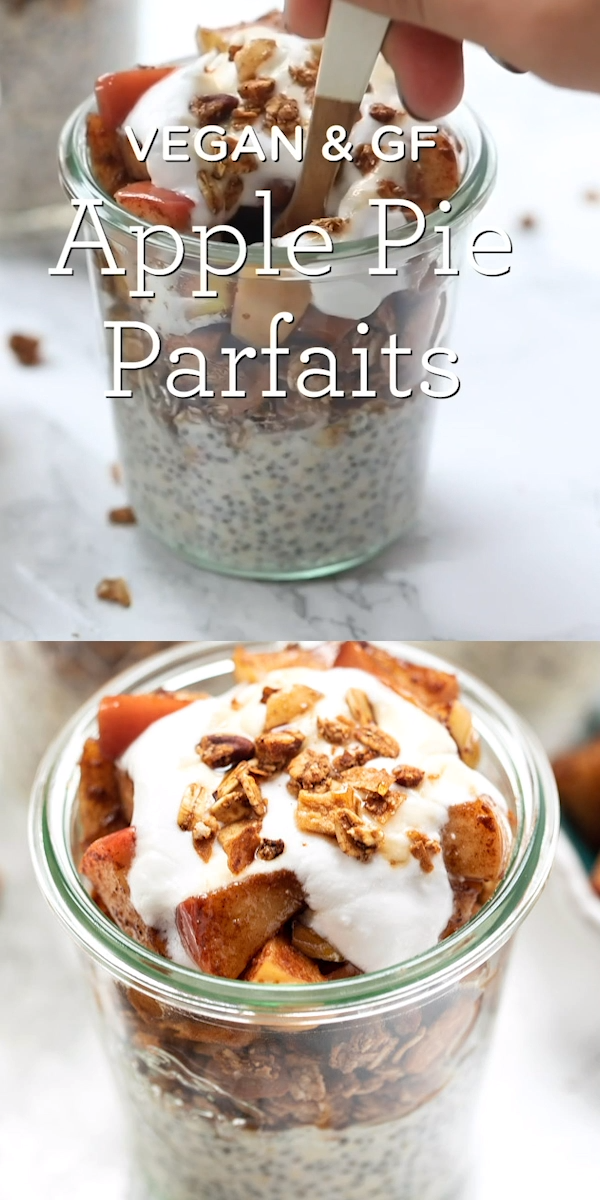Apple Pie Breakfast Parfaits #glutenfreebreakfasts