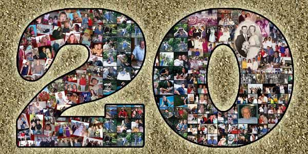 20th Birthday Gift For Husband Wife Boyfriend And Girlfriend 20 Bday Collage