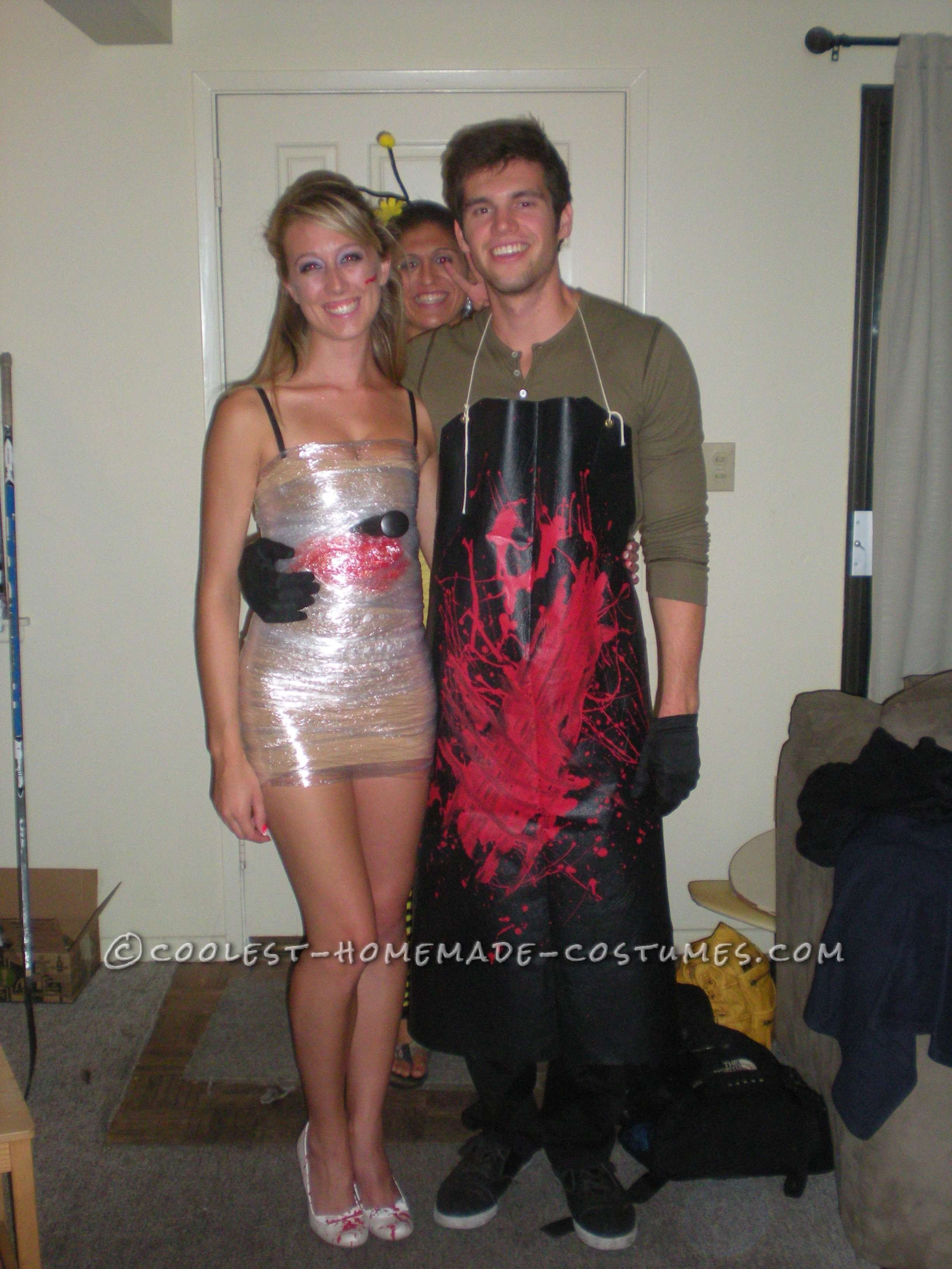 Cheap and easy to make dexter couple costume fete halloween maquillage halloween et halloween - Maquillage halloween couple ...