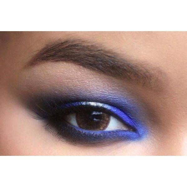 Sugarpill Velocity Blue Silver Smokey Eye Makeup Liked On