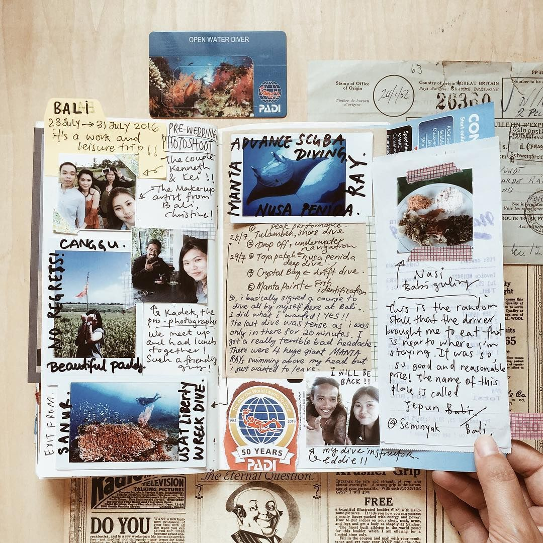 Travel journals are such a great way to save memories ...