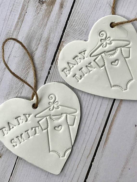 Baby Shower Favors For Guests Boy Clay Tags Personalized Unique