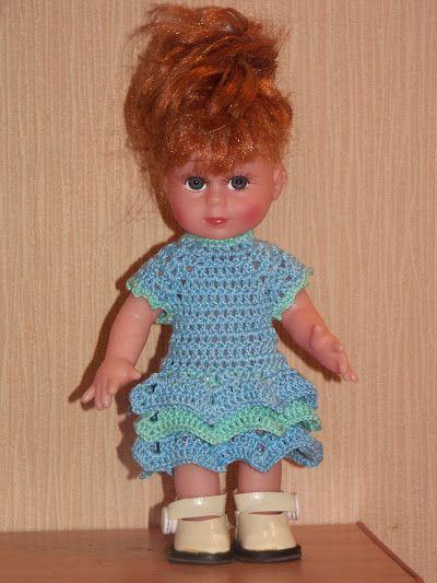 Платья для куклы своими руками крючком
