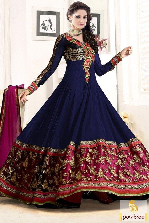e84239a9a Tv actress asmita sood blue color georgette anarkali suit. This star plus  serial battameez celebrity