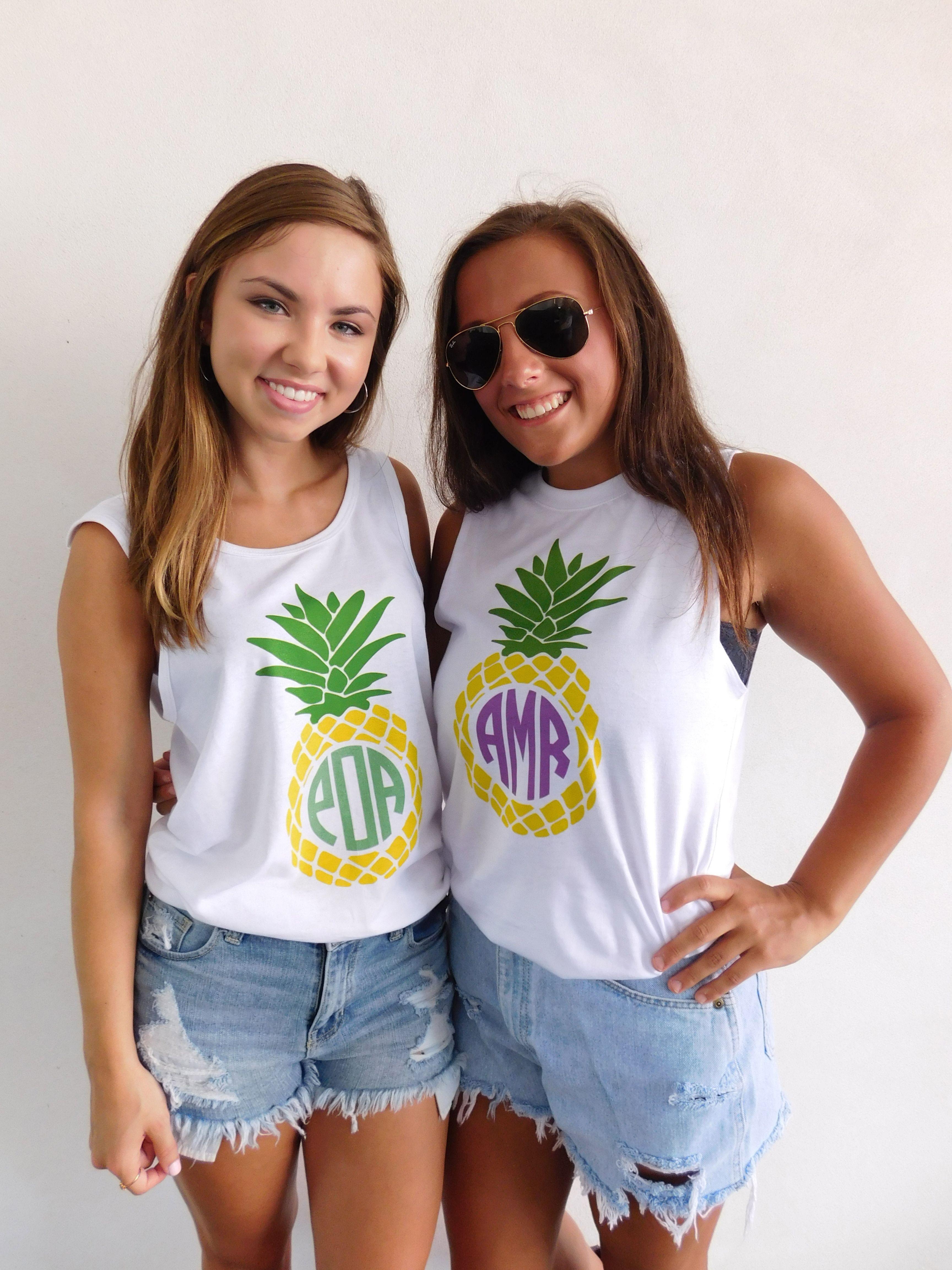 Monogrammed 'Pineapple' Tank Top