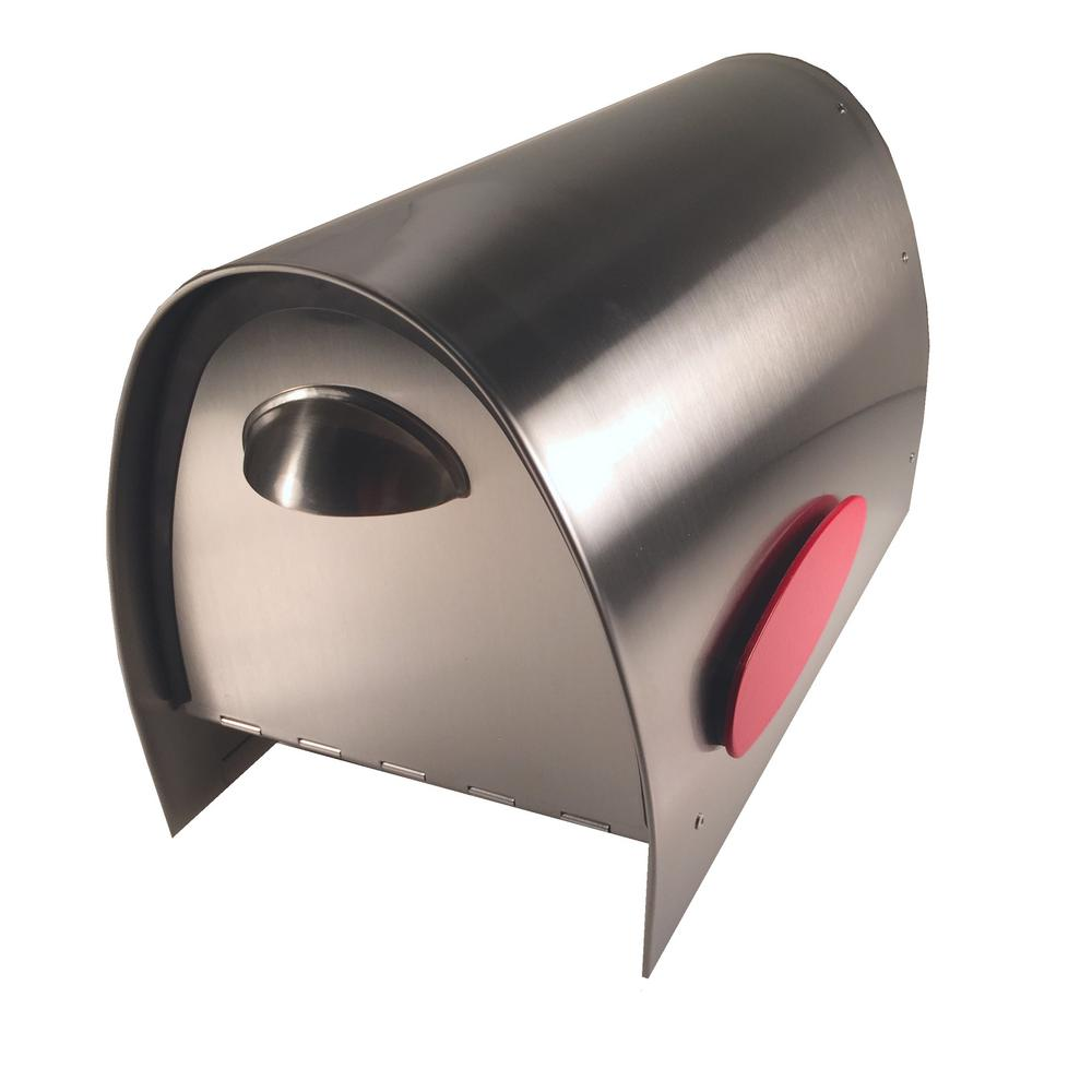 Spira Standard Stainless Mailbox Spa M005ss The Home Depot In 2021 Steel Mailbox Stainless Steel Mailbox Mounted Mailbox
