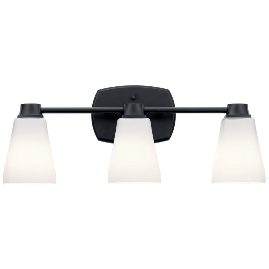 Delta Sandover 3 Light Black Traditional Vanity Light Lowes Com In 2020 Black Vanity Light Vanity Lighting Traditional Vanity