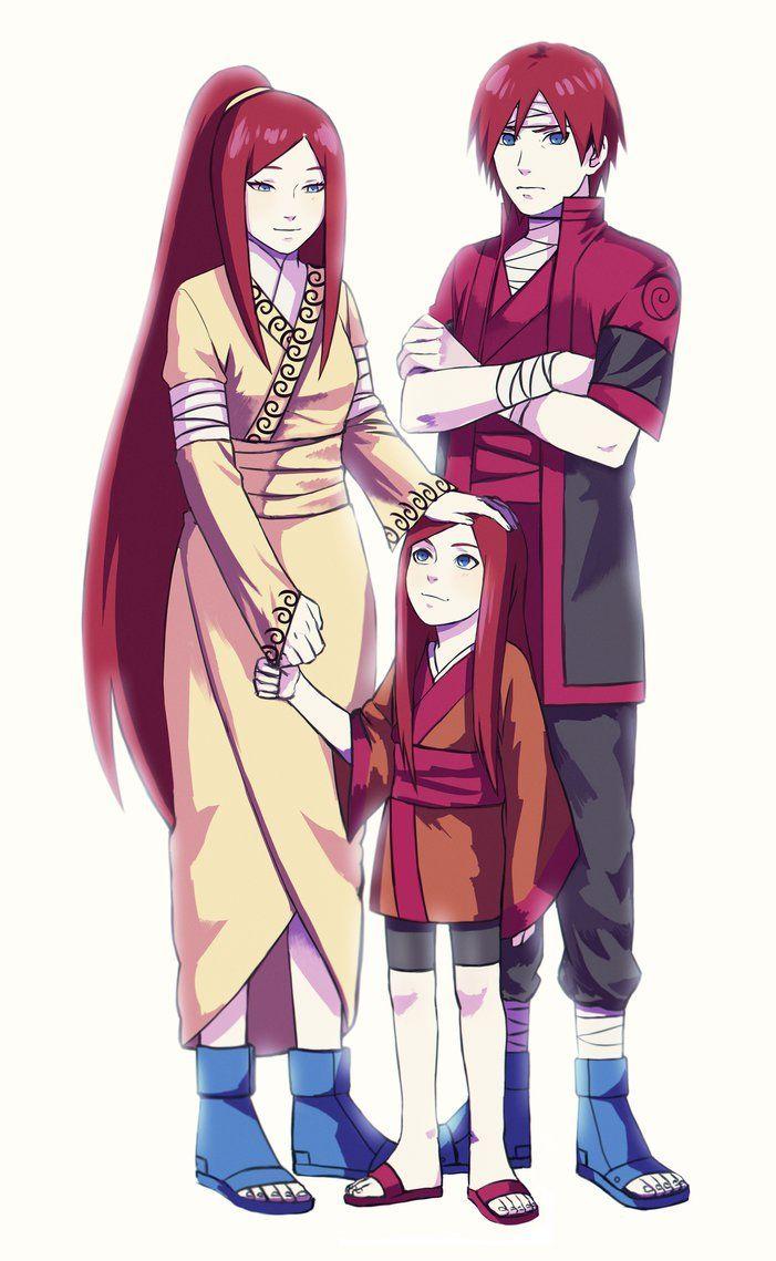 Kushina and her parents by MrsOomori on DeviantArt