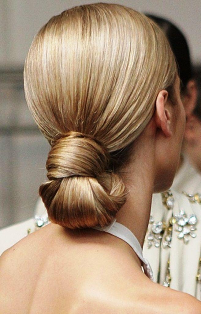 Bride\u0027s sleek classic chignon knot under bun bridal hair Toni Kami Wedding  Hairstyles ♥ ➁ Wedding