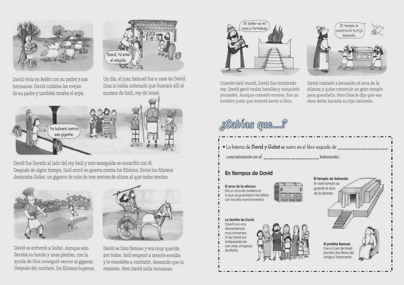 Fantástico David Y Goliath Para Colorear Imagen - Ideas Creativas ...