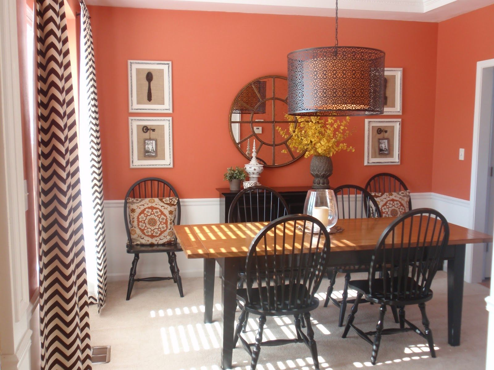 Red Dining Room Appetisingly Colorful Terracottapaintedwall Pleasing Red Dining Room Curtains Inspiration Design