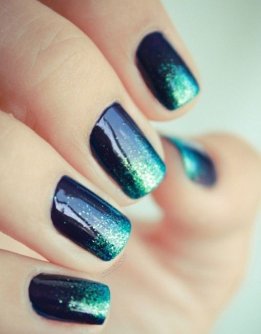 Ombré style painted nails