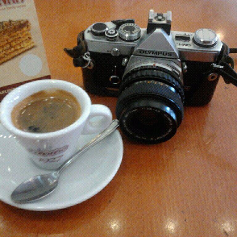 coffee and camera #espresso #olympus #analogcamera #film #richmond