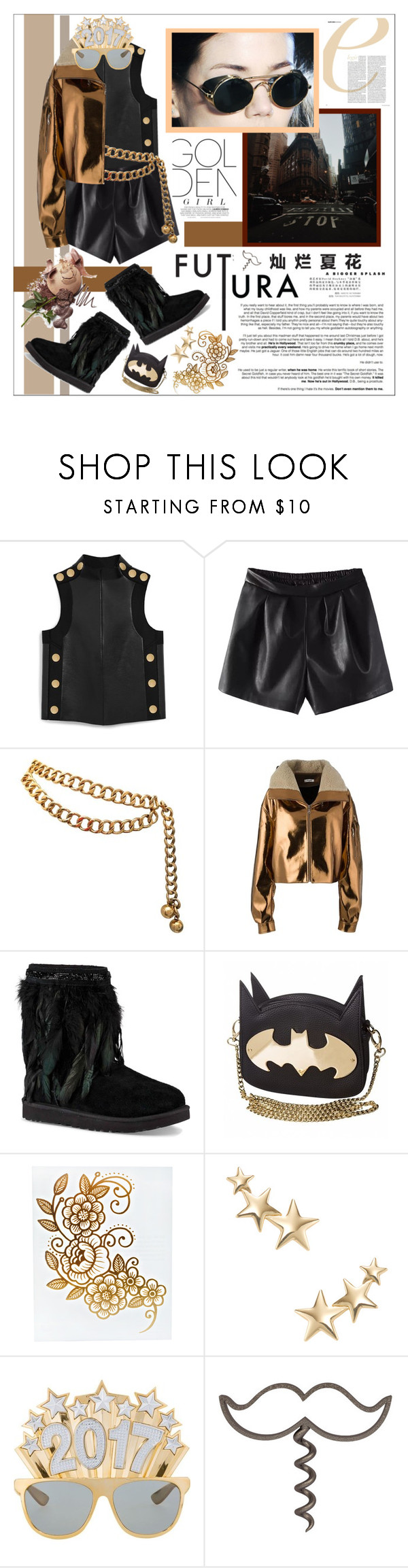 """""""Happy New Year 🎉🎉2017🎉🎉"""" by biinabnab ❤ liked on Polyvore featuring Mulberry, Chanel, Masha Ma, UGG, Behance, Lauren Conrad and Kenneth Jay Lane"""