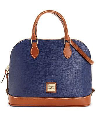 321858160757 Dooney   Bourke Zip Top Satchel - Dooney   Bourke - Handbags   Accessories  - Macy s
