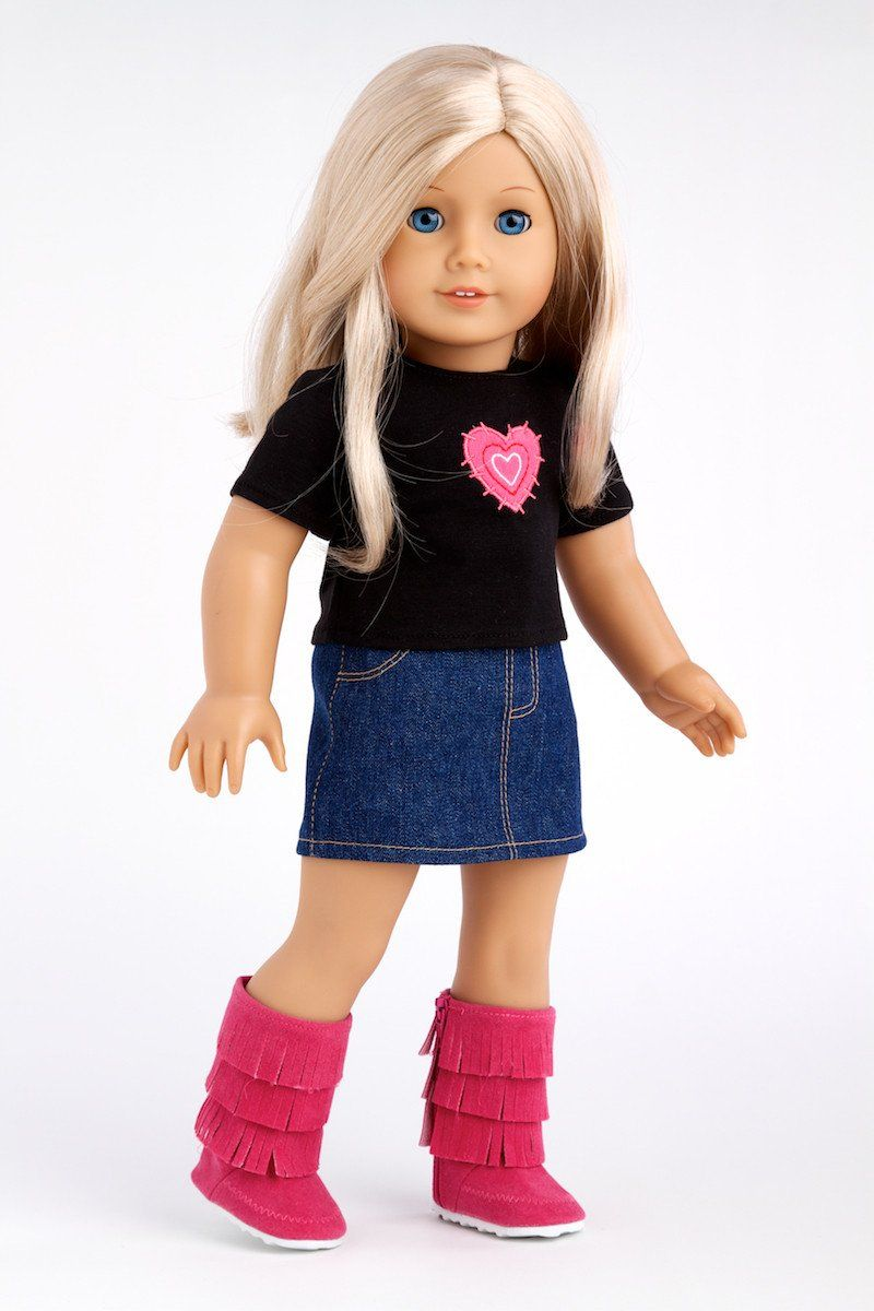 34835a6eaec Rock Star - Clothes for 18 inch Doll - 3 Piece Outfit - T-Shirt ...