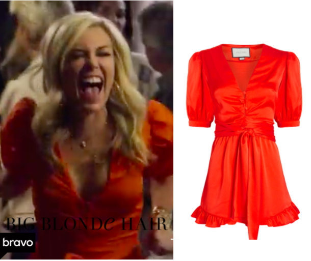 Tinsley Mortimer S Red Puff Sleeve Romper In 2020 Fashion Big Blonde Hair Housewives Of New York