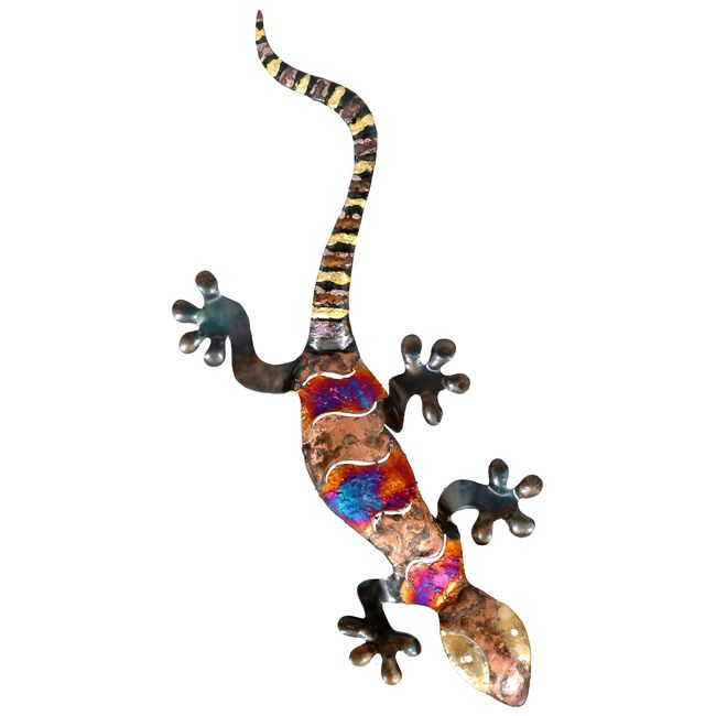 Copper Dripped Gecko Metal Wall Art - Extra Large | western Decore ...