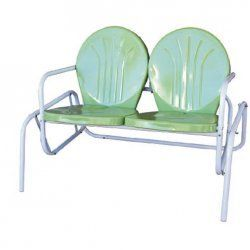 Charmant Bellaire Retro Metal Double Glider By Torrans. Love This In Yellow Or Lime.  Www