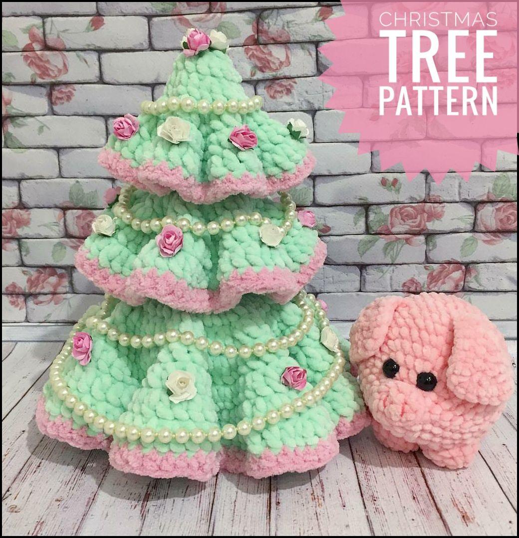 Crochet Christmas Tree Pattern, Amigurumi Christmas