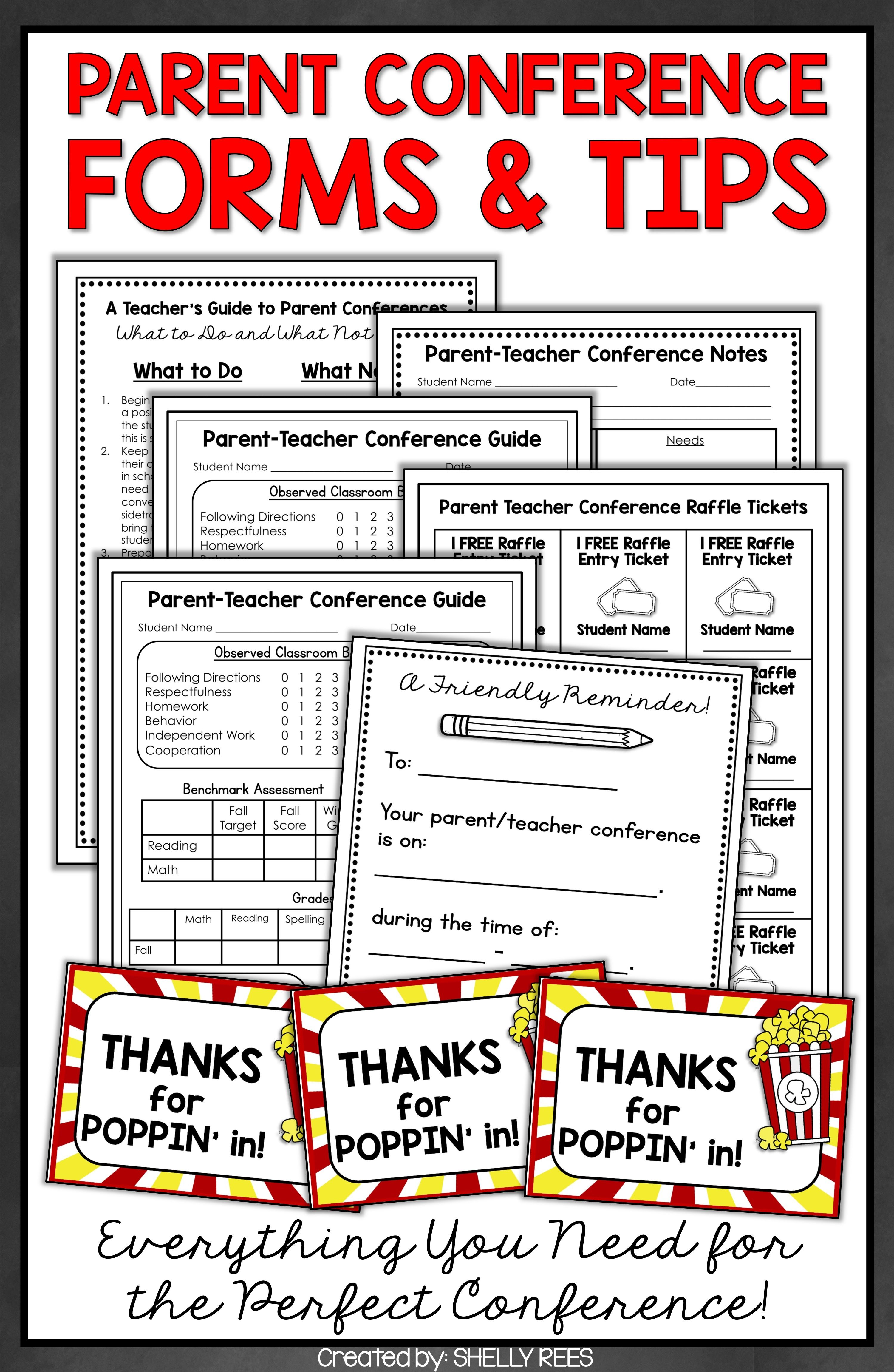 Parent teacher conference forms for parent conferences teacher parent teacher conferences are easy and less stressful with these forms ideas and tips altavistaventures Images