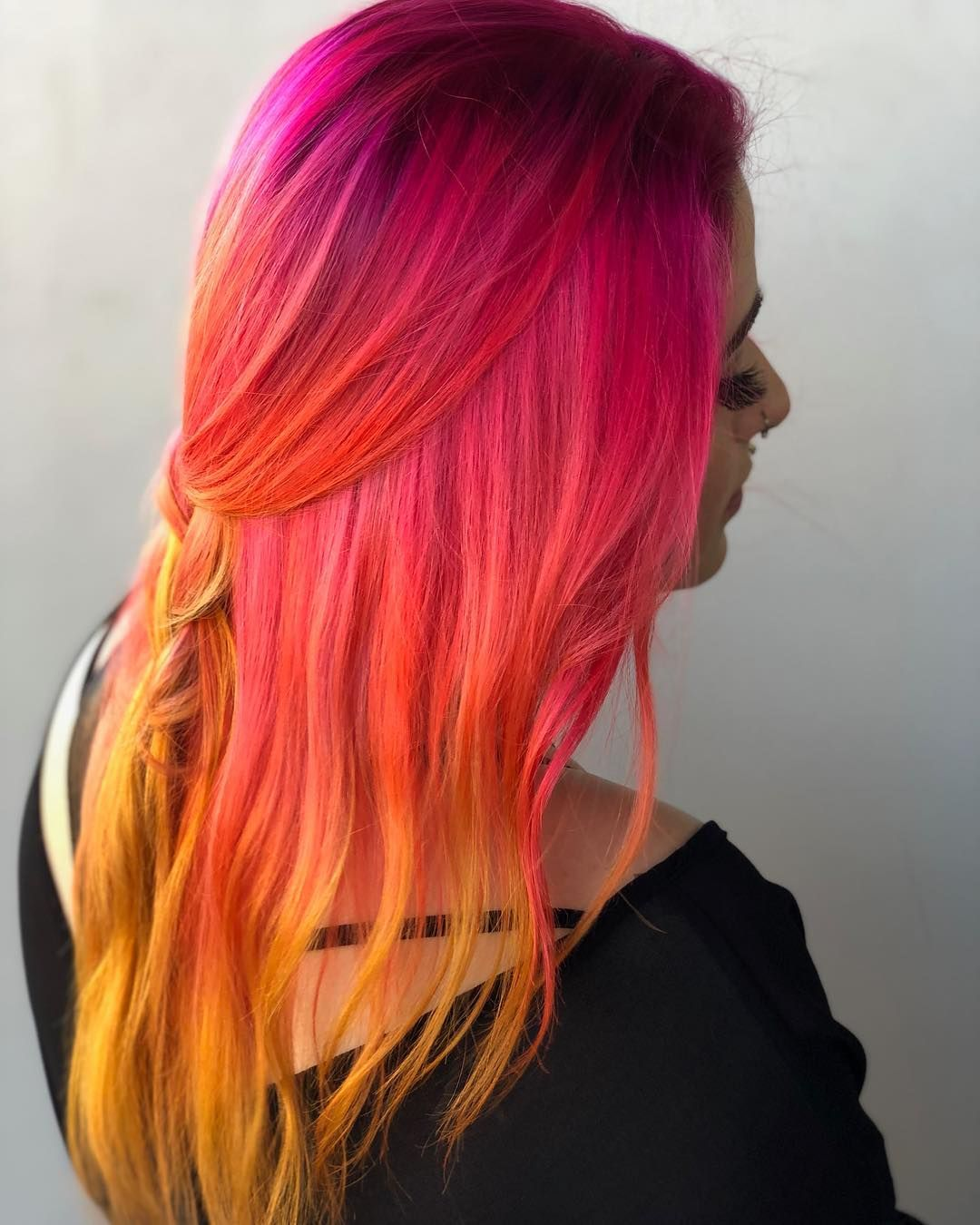 Pin by Nonie Chang on Dyed Hair in Pinterest Hair Dyed