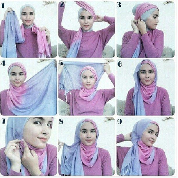 Zahratul Jannah simple style 1   hijab tutorial ...