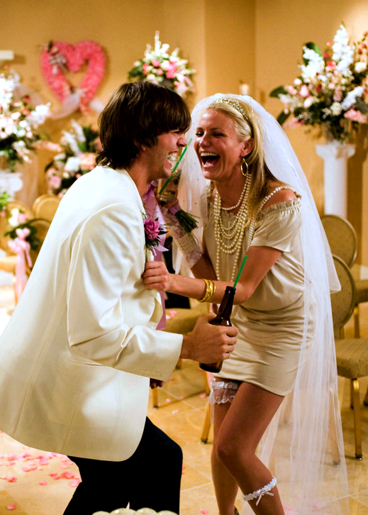"Ashton Kutcher and Cameron Diaz, ""What Happens in Vegas"" giggles"