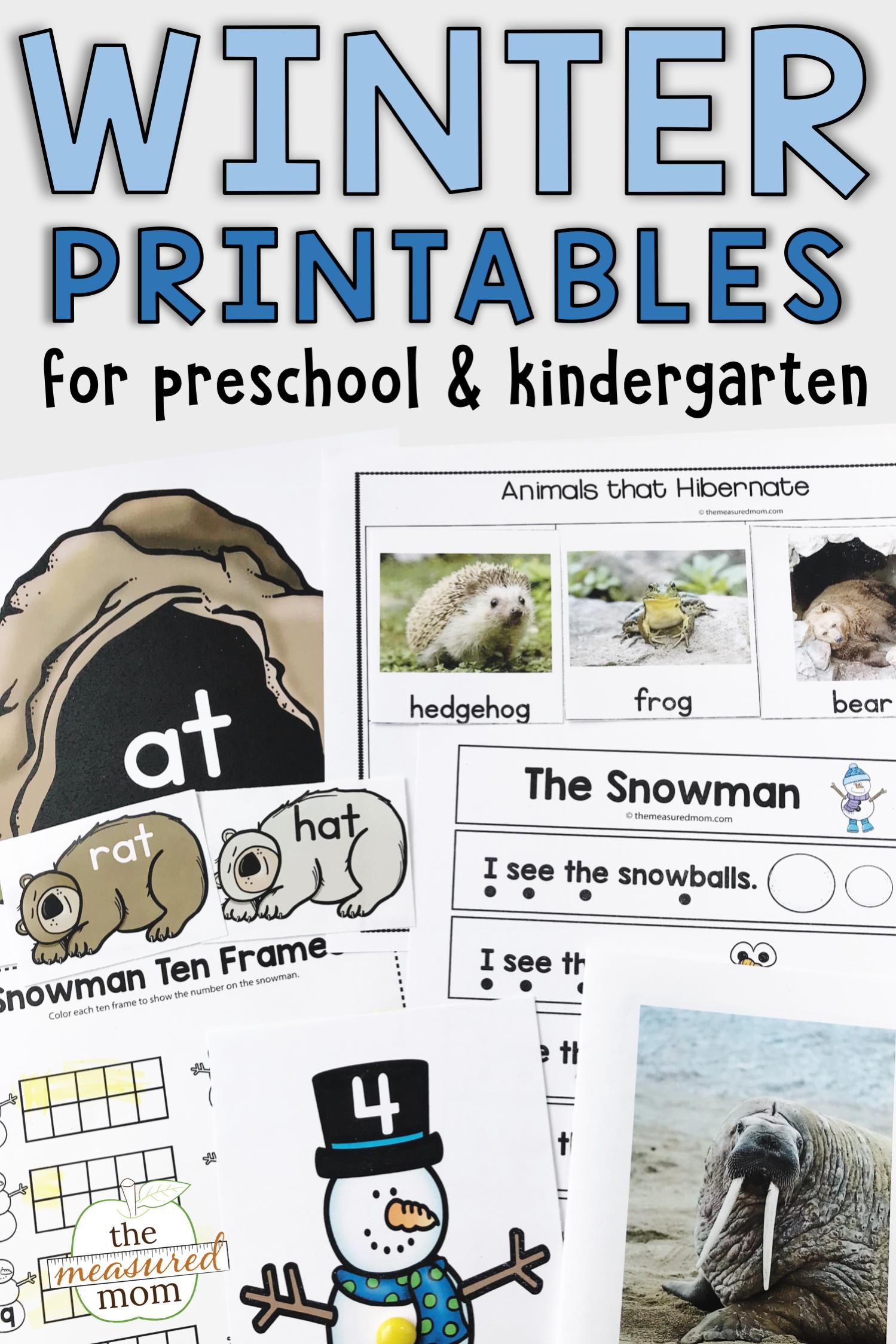 Winter Theme Activities Phonics Activities Math Activities Preschool Early Literacy Activities [ 2249 x 1499 Pixel ]