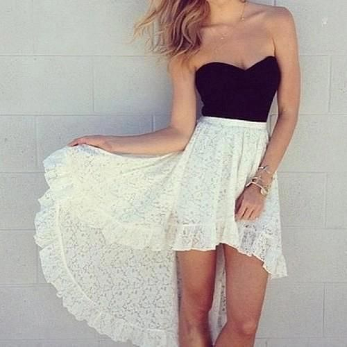 high low | Tumblr | High Low Dresses | Pinterest | We, Posts and Black